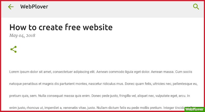 Create Free Website