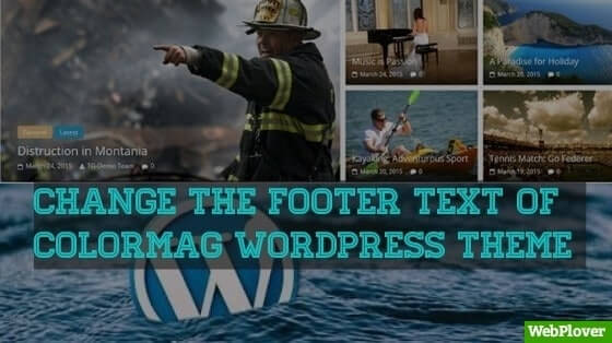 How To Change The Footer Copyright Text Of ColorMag WordPress Theme