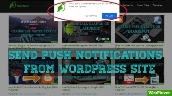 How to Send Push Notifications from WordPress Site [With Pictures]