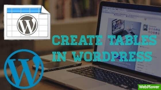 How to create Table in WordPress [With Pictures]
