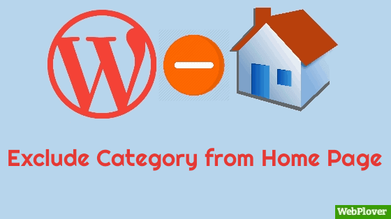 exclude category home page