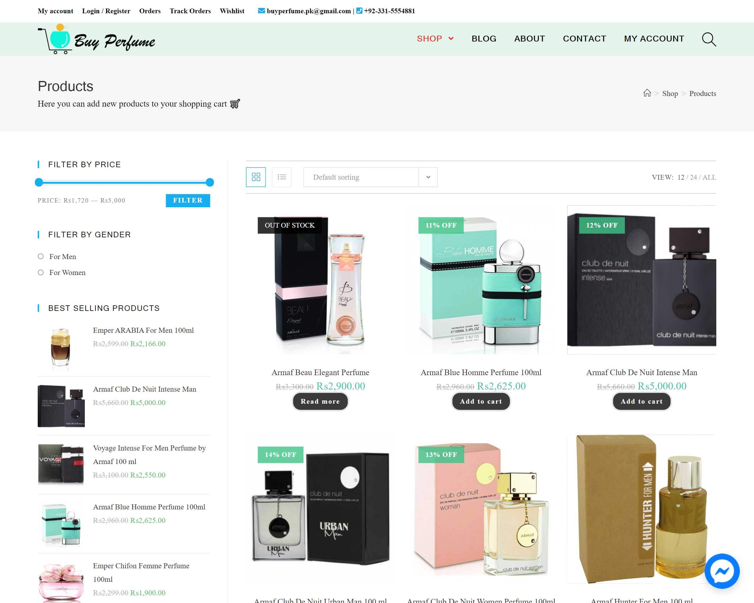 Buy Prfume Project made by WebPlover