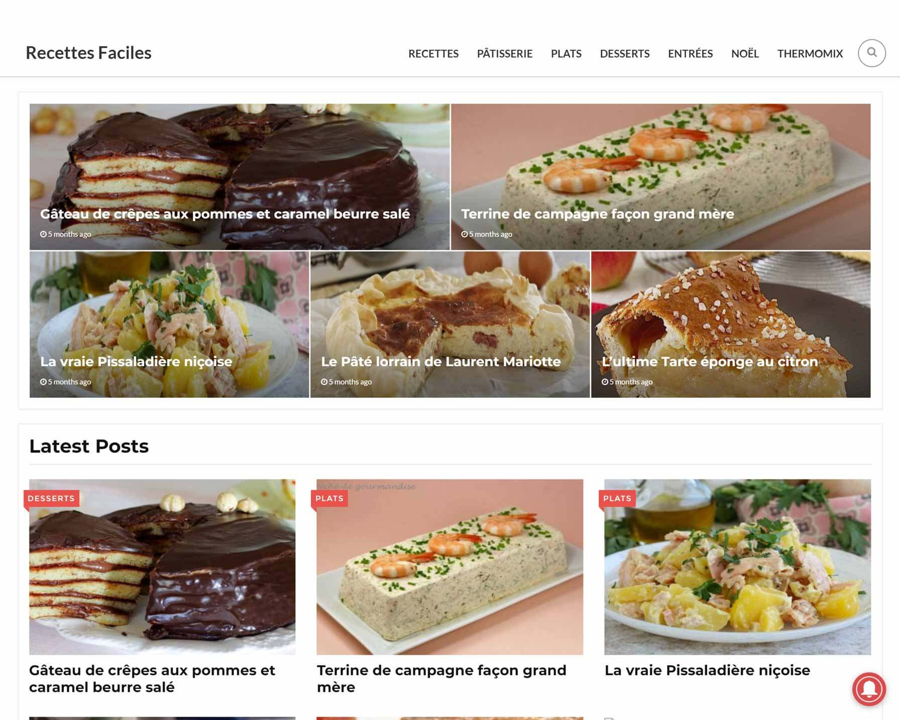 recettesfacile - Project made by WebPlover