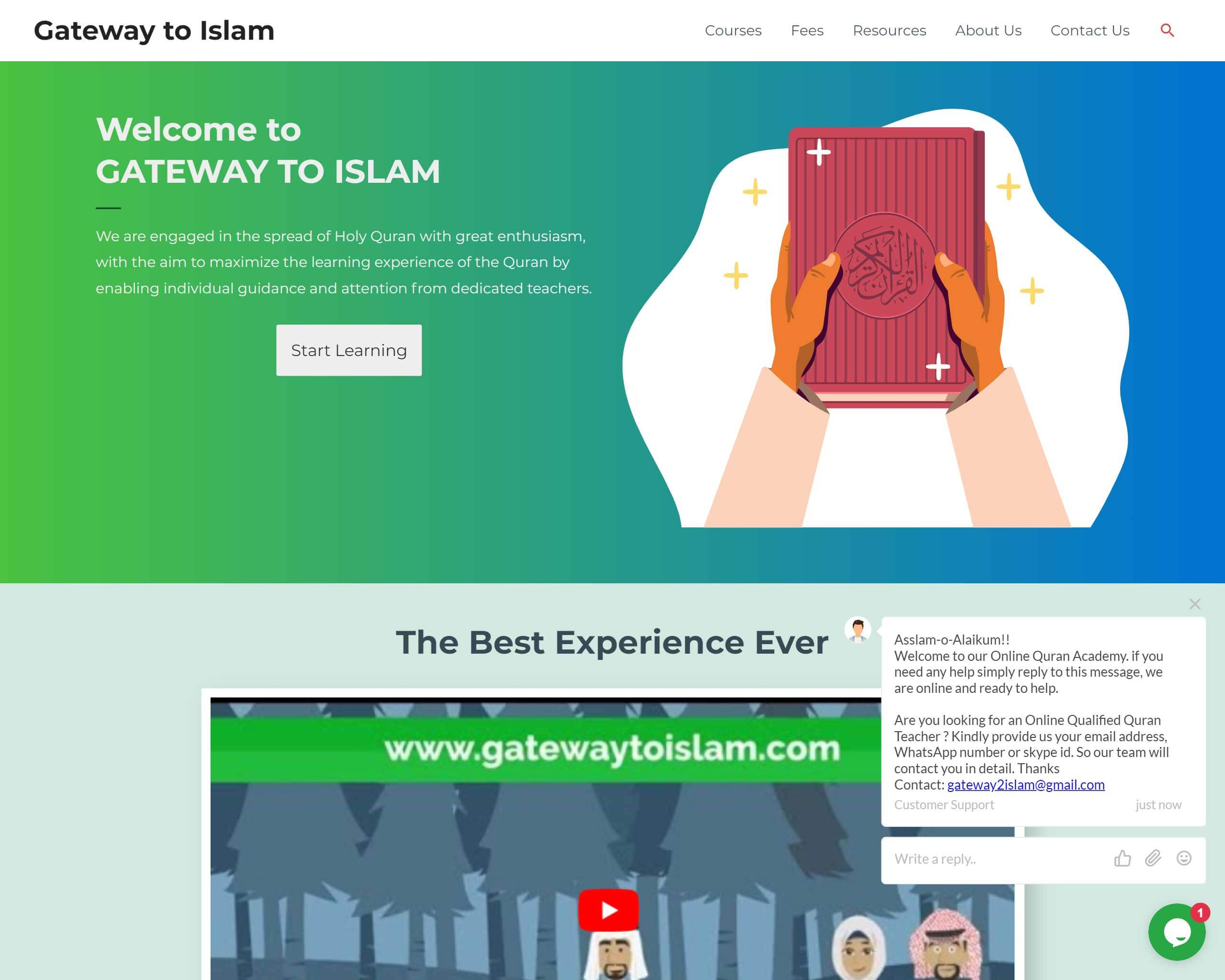 Gateway to Islam Project made by WebPlover