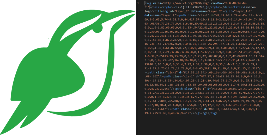 svg image with its source code